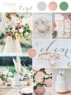 Metallic Bohemian Wedding Ideas in Copper and Coral