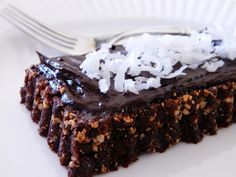 Raw Vegan Chocolate Frosted Brownie