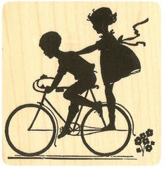 Vintage Girls Riding Bikes Adult Coloring Pages