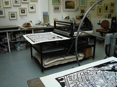 Printmaking studio - med and BIG print sizes ; )