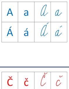 Jednotlivá písmenka abecedy Montessori, Word Search, Education, Words, Excercise, Printables, Children, Ejercicio, Kids