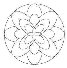 Mandalas de profesiones ... Free Mosaic Patterns, Stained Glass Patterns, Mandala Pattern, Zentangle Patterns, Beading Patterns, Mandala Art, Mandala Painting, Stencil Painting, Pattern Coloring Pages