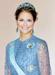 theirroyalhighnessespost:  Princess Madeleine in a new portrait released by the Royal Court.  Photo credit: Anna-Lena Ahlström/ Kungahuset.se