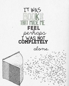 We love this deep book quote about the companionship we find on a bookshelf.