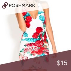 Flower Bodycon Dress Hello ❤️❤️ Thanks For Viewing This Item. I Used To Own A Boutique And Now Everything Must Go.  Item Info:  💎 Brand New/With Or Without Tags 💎 Tight Fit // Fits True To Size // Sm 2-4 Med 6-8 Lg 10-12  ✨All Offers Accepted✨  All Items are brand new and marked really low so please make a reasonable offer. Bundle To Get $$$ off.  All items ship same day  Follow Instagram.com/MontiMaa Dresses Mini