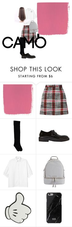 """""""school girl"""" by daisy-giselle on Polyvore featuring Carven, Marsèll, Monki, MICHAEL Michael Kors, Anya Hindmarch and Native Union"""