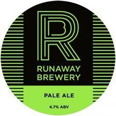 RunawayBrewery_PumpClip_Pale Craft Ale, British Beer, Double Ipa, Beer Coasters, Beer Brands, Running Away, Chicago Cubs Logo, Brewery, Pump