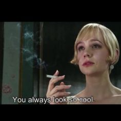 """You always look so cool."" - Daisy Buchanan, Gatsby #carriemulligan #leonardodicaprio"