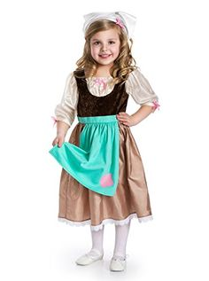Little Adventures Traditional Cinderella Day Dress Girls Costume - Medium (3-5 Yrs) -- Check this awesome product by going to the link at the image.