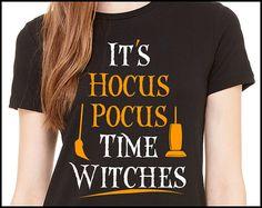 It's Hocus Pocus Time Witches T-Shirt Hocus Pocus by HouseOfRodan