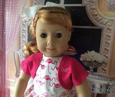 American Girl Doll Clothing-Pink Flamingos Custom by gofancynancy