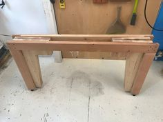 Prototyping an Inexpensive Set of Folding Table Legs Out of Construction Lumber - Handmade Wood Furniture, Diy Furniture Plans, Folding Table Legs, Outdoor Kitchen Plans, Convertible Furniture, Chair Design Wooden, Diy Farmhouse Table, Diy Workshop, Table Frame