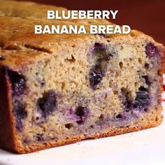 Eat Stop Eat To Loss Weight - Healthy Blueberry Banana Bread - In Just One Day This Simple Strategy Frees You From Complicated Diet Rules - And Eliminates Rebound Weight Gain Blueberry Banana Bread, Healthy Banana Bread, Banana Bread Recipes, Banana Bread With Blueberries, Strawberry Banana, Tasty Vegetarian, Baking Recipes, Dessert Recipes, Dinner Recipes