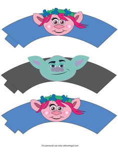 Pagina 1 Trolls Party, Trolls Birthday Party, 6th Birthday Parties, Troll Cupcakes, Army Party, Party Needs, Childrens Party, Party Printables, Bunt