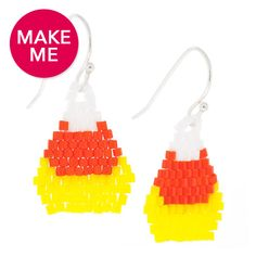 Candy Corn Crush Earrings | Fusion Beads Inspiration Gallery