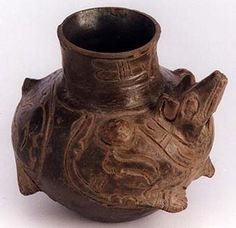 Toltec Animal Effigy Vessel - PF.3261 Origin: Soconusco, Chiapas,Mexoco Circa: 10 th Century AD to 12 th Century AD Dimensions: 5.375 (13.7cm) high x 5.375 (13.7cm) wide Collection: Pre-Columbian Style: Toltec Medium: Plumbate