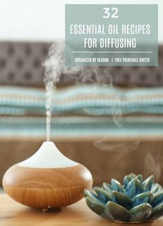 LOVE this list of 32 ESSENTIAL OIL RECIPES for diffusing. It