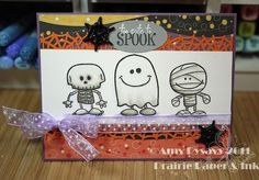 Images by Craft Smart (Michaels), Sentiment from AmyR Stamps Ghostly Greetings.: