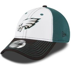info for 1ffa3 fb864 Philadelphia Eagles New Era NFL White Front Neo 39THIRTY Flex Hat - White