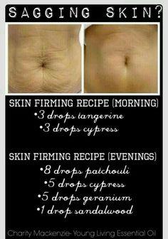 Sagging skin essential oil protocol