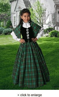 Girl s Traditional Scottish Tartan Dress Outfit No. 1 - USD - Medieval and  Renaissance Clothing 46e9b98a76c37