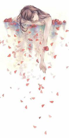 Kunst Zeichnungen - Tags: Anime, Pixiv, Pixiv Id 3508281 - Best Art Pins Art Anime Fille, Anime Art Girl, Anime Girls, Sad Girl Art, Sad Art, Art And Illustration, Art Sketches, Art Drawings, Drawing Drawing