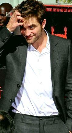Robert Pattinson at handprint ceremony, 2012