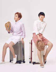 Baekhyun, Xiumin - 160802 Lotte Duty Free magazine, August 2016 issue Credit: RadiantCY61.