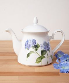 Look what I found on #zulily! Blue Hydrangea  Teapot by Ashdene #zulilyfinds