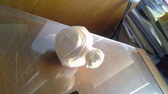 Tissue white rose