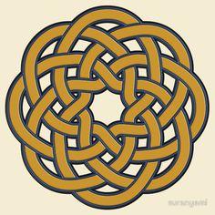:: knot ::   (turks head knot t-shirt design)