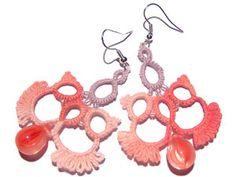 "pretty ""wingy"" tatted earrings"