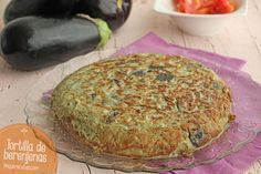 Tortilla-de-berenjenas-(2) Veggie Recipes, Low Carb Recipes, Snack Recipes, Cooking Recipes, Healthy Recipes, Healthy Food, Egg Tortilla, Vegetarian Pancakes, Salty Foods