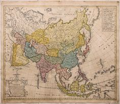 Charte von Asien antique old map Asia Homan Heirs 1804 Historical Maps, Historical Pictures, Vintage Maps, Antique Maps, All World Map, European Map, Asia Map, Map Maker, Map Pictures