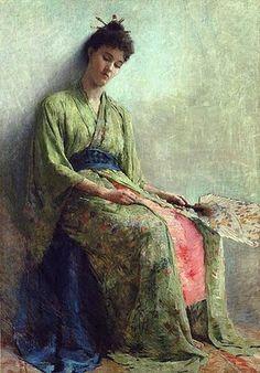 Painting by Sir Thomas Frank Dicksee Frank Dicksee, Arte Fashion, Figurative Kunst, Pre Raphaelite, Arte Popular, Art Themes, Fine Art, Figure Painting, Asian Art