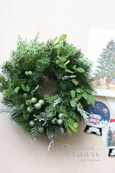 Christmas wreath 2015 mistletoe ヤドリギ