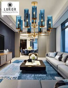 We Are The Premier Destination For Luxury Home Decor & Lighting. We Have An Exclusive Selection Of Unique Home Decor & Lighting. Classy Living Room, New Living Room, Cozy Living, Living Room Decor, Chandeliers, Glass Chandelier, Chandelier Lighting, Condo, Luxury Penthouse
