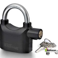 Digital Security Alarm Lock Specification: 1) Size: 9.5(H) x 9.3(W) x 3(D)cm, Shackle diameter: 9mm 2) Main materials: Zinc alloy body, chrome finish 3) 6 button batteries (AG13 included), battery life: 6 months