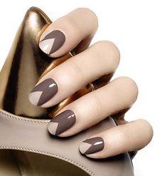 gray nail art