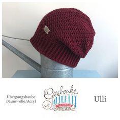 Tunella's Geschenkeallerlei präsentiert: das ist Ulli, eine geniale gehäkelte Haube/Mütze aus einer Baumwolle/Acryl-Mischung - Du kannst dich warm anziehen, dank sorgfältigem Entwurf, liebevoller Handarbeit und deinem fantastischen Geschmack wirst du umwerfend aussehen. #TunellasGeschenkeallerlei #Häkelei #drumherum #Beanie #Haube #Mütze #handgemacht #Geschenk #Ulli