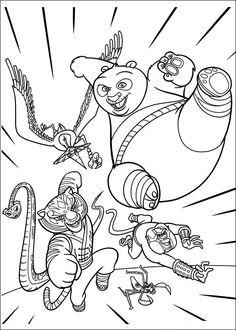 Kung Fu Panda Tegninger til Farvelægning. Printbare Farvelægning for børn. Tegninger til udskriv og farve nº 17