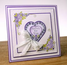 for you purple primroses card by John Lockwood