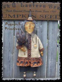 Halloween Sewing, Modern Halloween, Halloween Doll, Halloween Trees, Cute Halloween, Vintage Halloween, Halloween Decorations, Halloween Witches, Primitive Autumn
