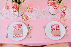 Romantic summer wedding reception tablescape with pink peony tulips  #romantic weddings, #wedding reception, #centerpieces, #pink, #peony, #flowers