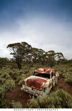Abandoned rusted old car, Australia   Flickr - Photo Sharing!