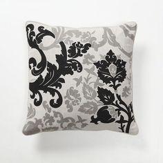 Villa Home Baroque and Roll Luminaria Pillow in Black