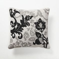 Villa Home Baroque and Roll Luminaria Pillow in Black