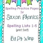 If you use Saxon Phonics in your classroom, this packet has everything your students need to practice their spelling words! You can use these activ. Spelling Practice, Spelling Lists, Spelling Words, Saxon Phonics, 1st Grade Centers, Word 2, School Subjects, Teaching Materials, Literacy Activities
