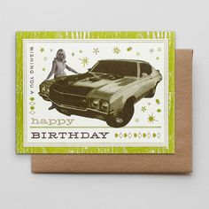 Happy Birthday Muscle Car from HAMMERPRESS