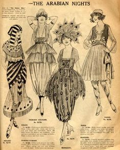 The Arabian Nights, an advert for Halloween Costume Patterns, c.1920